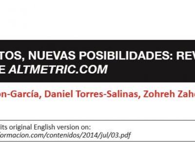 """El artículo """"Nuevos datos, nuevas posibilidades: revelando el interior de Altmetric"""", opta al Cuarto Premio SCImago – EPI 2019"""
