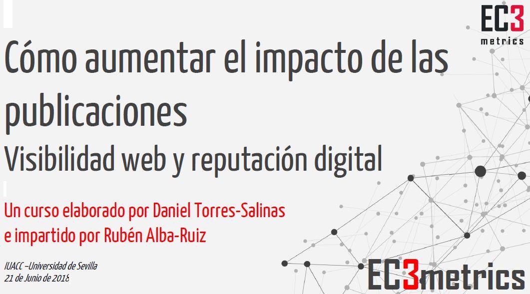 Cómo aumentar el impacto de las publicaciones: Visibilidad web y reputación digital