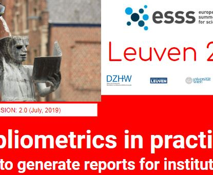 Bibliometrics in practice: how to generate reports for institutions