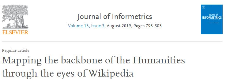 Nuevo artículo: Mapping the backbone of the Humanities through the eyes of Wikipedia